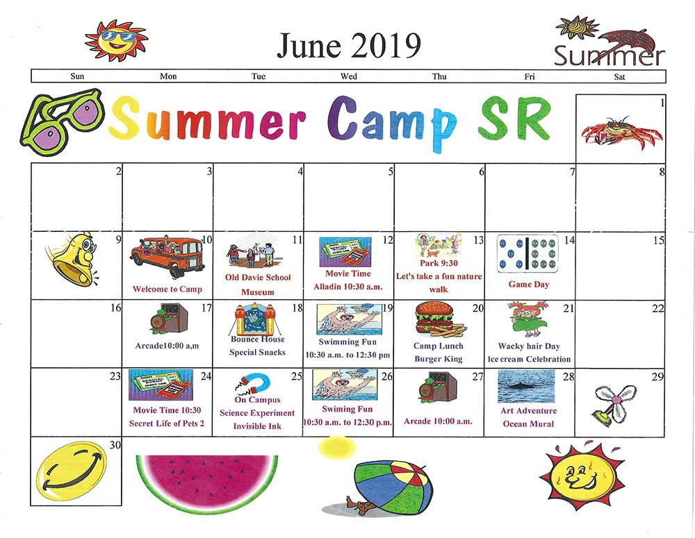 Senior Summer Camp Calendar - My First Years Preschool